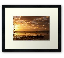Sunrise 9th April Framed Print