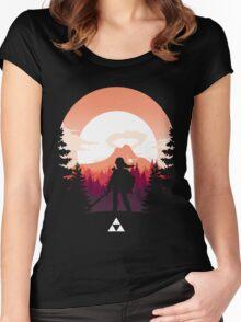 The Legend of Zelda (Orange) Women's Fitted Scoop T-Shirt