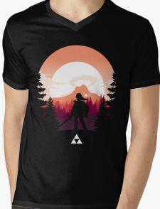 The Legend of Zelda (Orange) Mens V-Neck T-Shirt
