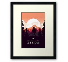 The Legend of Zelda (Orange) Framed Print