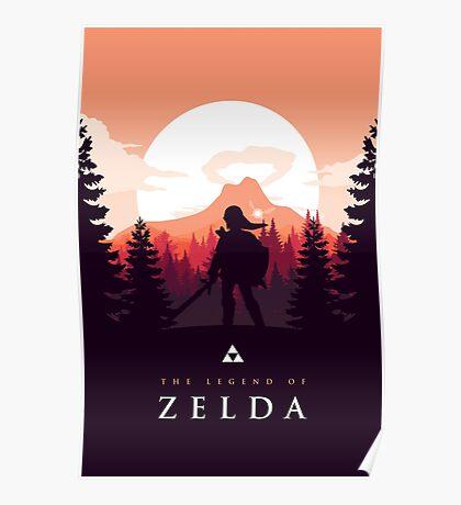 The Legend of Zelda (Orange) Poster