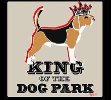 Beagle King of the Dog Park by BarkleyandCo
