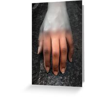 A Woman's Hand on a Rock Greeting Card