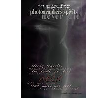Old Photographers Never Die © They Keep Flashing Before Your Eye Photographic Print
