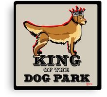 Golden Retriever  King of the Dog Park Canvas Print
