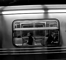 Two Subway Patrons, New York by Stephen Burke