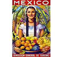 Mexico Vintage Travel Poster Restored Photographic Print