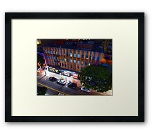 Night Street Scene Framed Print