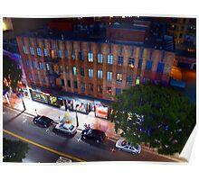 Night Street Scene Poster