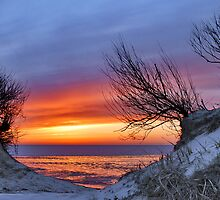 A red sunset 2 by Adri  Padmos