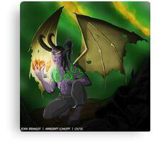 Illidan Stormrage - Warcraft  Canvas Print