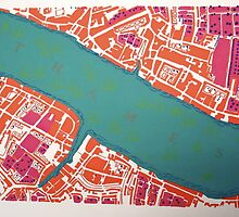 Ancient London - Screenprint by MaggieGrace