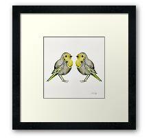 Little Yellow Birds Framed Print