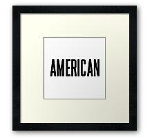 American Framed Print