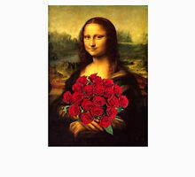 Mona Lisa Loves Red Roses Unisex T-Shirt