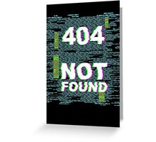 404 - Item Not Found Greeting Card