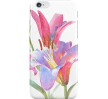 Watercolor Lilies iPhone Case/Skin