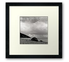 Watching the clouds roll over Framed Print