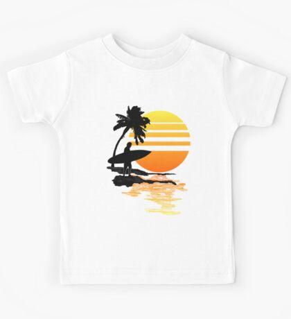 Surfing Sunrise Kids Tee