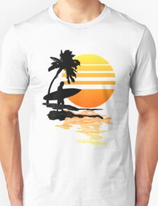 Surfing Sunrise Unisex T-Shirt