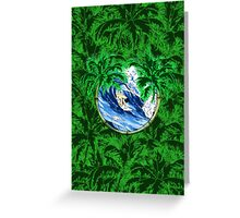 Tropical Surfer Greeting Card