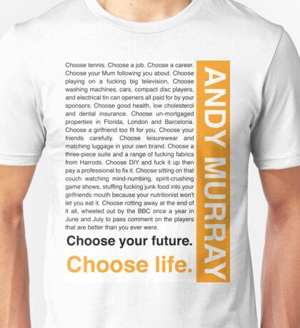 Andy Murray Trainspotting 'Choose Life' design Unisex T-Shirt