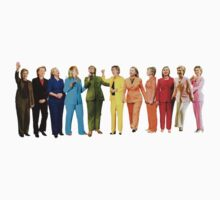 Hilary's Rainbow Pantsuits  One Piece - Long Sleeve