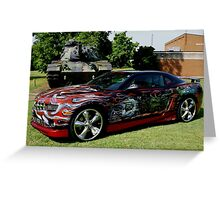 military tribute camaro Greeting Card