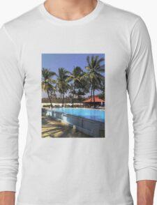South Beach Swiming Pool Long Sleeve T-Shirt