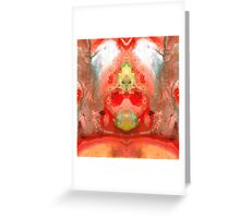 Om - Red Meditation - Abstract Art By Sharon Cummings Greeting Card