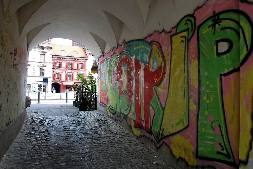 Passage in Maribor - Slovenia by Arie Koene