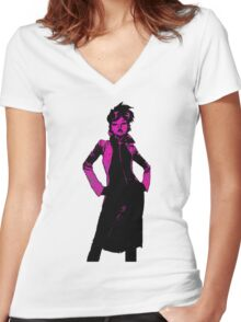 Jubilee X-Men Ink Scratch Women's Fitted V-Neck T-Shirt