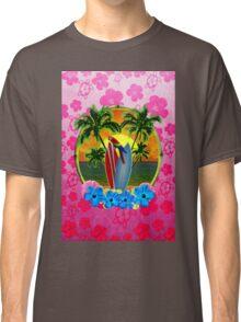 Tropical Sunset Pink Flower Classic T-Shirt