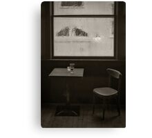 A Pint Of Beer On A Rainy Day Canvas Print