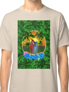 Tropical Sunset Palm Trees Classic T-Shirt