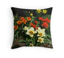 My Tulip Garden Throw Pillow