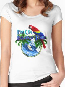 Island Time Surfing Women's Fitted Scoop T-Shirt