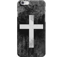 Christian Cross White grey faded iPhone Case/Skin