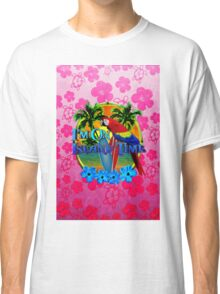 Pink Hibiscus Island Time Sunset Classic T-Shirt