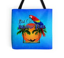 Island Time And Parrot Tote Bag