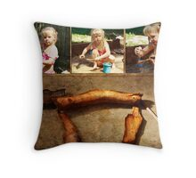 In pursuit of excellence Throw Pillow