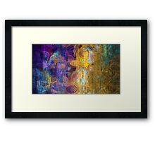 Axion abstraction5 Framed Print