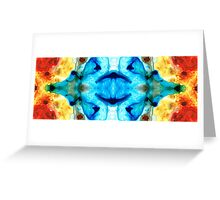 Synchronicity - Colorful Abstract Art by Sharon Cummings Greeting Card