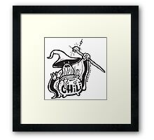 Chili Wizard Breakfast Wizard Framed Print