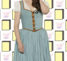 Belle French / Belle Gold Book And Cup Design (OUAT) Sticker