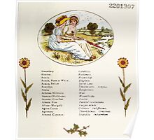 Language of Flowers Kate Greenaway 1884 0011 Descriptions of Specific Flower Significations Poster