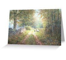 Squirrel Lane, Cumbria, England Greeting Card