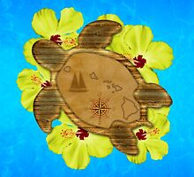 Honu Hawaiian Nautical Map by BailoutIsland