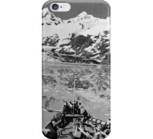 BW USA Alaska glacier bay national monument 1970s iPhone Case/Skin