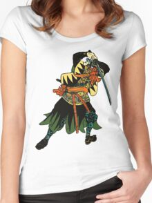 Samurai warior Women's Fitted Scoop T-Shirt